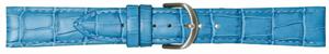 Bild von Kalbleder Louisiana-Kroko hellblau 10 - 20 mm Anstoß