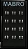 Bild von Ringaufsteller schwarz für 12 Paar Ringe HxBxT 27x15x12cm