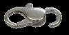 Bild von Karabiner 925/-, gewölbt gegossen  10mm 1 VPE =  5 St.