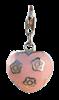 Bild von Charm Herz pink epoxy gefasst