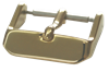 Bild von Lederbandverschluß Edelstahl 18 + 20mm breit, Chrono-Dornschließe, Beschichtung: PVD gelb, 1 VPE = 3 St.