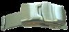 Bild von Faltverschluß für Lederbänder Edelstahl 12-20mm breit, für Lederbänder bis 3mm Stärke