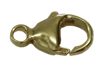 Bild von Karabiner Edelstahl PVD gold 23mm 1 VPE = 3 St.