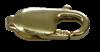 Bild von Karabiner Edelstahl ital. Form PVD gold  18mm 1 VPE = 3 St.