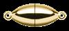 Bild von Edelstahl Schlößchen Olive 6,5mm glänzend PVD gelb