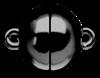 Bild von Edelstahl Schlößchen Kugel 8mm/10mm/12mm glänzend PVD schwarz