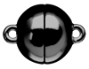 Bild von Edelstahl Schlößchen Kugel 8mm/10mm/12mm matt PVD schwarz