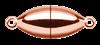 Bild von Edelstahl Schlößchen Olive 6,5mm glänzend PVD rosé
