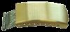 Bild von Faltverschluß mit Federstegbefestigung Edelstahl 16mm, Beschichtung: PVD gelb, 1 VPE = 2 St.