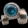 Bild von Ohrstecker Titan blau 9,5mm
