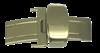 Bild von Faltverschluß für Lederbänder Edelstahl 12-24mm breit, für Lederbänder bis 6mm Stärke, Beschichtung: PVD-gelb