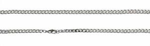 Bild von Flachpanzerkette 1,4x0,7mm Silber 925/- rhod. 38-60cm lang