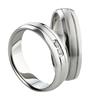 Bild von Ring Titan  gefasste Steine / Damenring Gr. 50-62