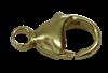 Bild von Karabiner Edelstahl PVD gold  9mm - 25mm  1 VPE = 3 St.